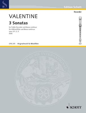 Robert Valentine - 3 Op.3 Sonatas No. 1-2 and 5 - Sheet Music - di-arezzo.com