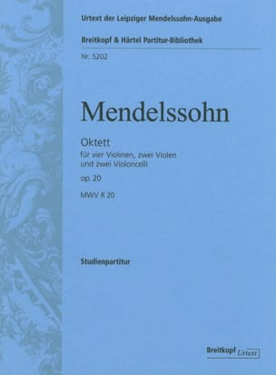 Bartholdy Felix Mendelssohn - Octuor op. 20 – Conducteur - Partition - di-arezzo.fr