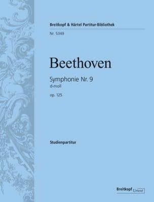 Symphonie n° 9 op. 125 - BEETHOVEN - Partition - laflutedepan.com
