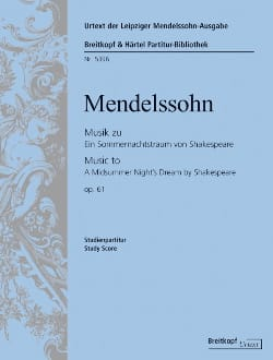MENDELSSOHN - The dream of a summer night op. 61 - Score - Sheet Music - di-arezzo.co.uk