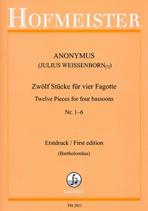 - 12 Pieces For 4 Bassoons N ° 1-6 - Sheet Music - di-arezzo.com