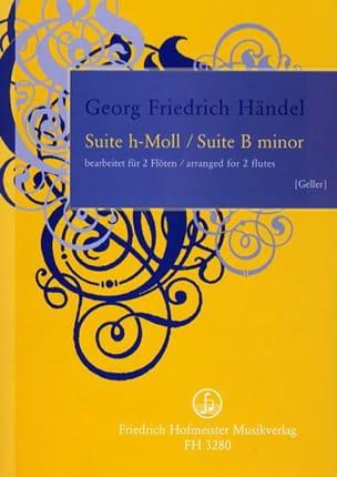 HAENDEL - Suite en Si Mineur - Partition - di-arezzo.fr