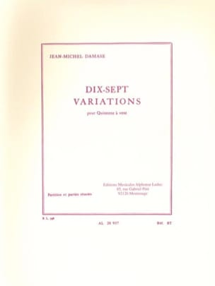 Jean-Michel Damase - 17 Variations - Partition Parts - Sheet Music - di-arezzo.co.uk