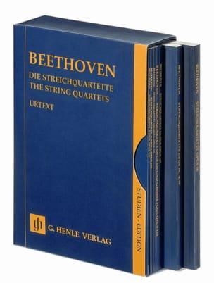 BEETHOVEN - Les quatuors à cordes - 7 volumes réunis dans un coffret - Partition - di-arezzo.fr
