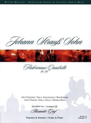 Fledermauss-Quadrille Op. 363 Johann (Fils) Strauss laflutedepan