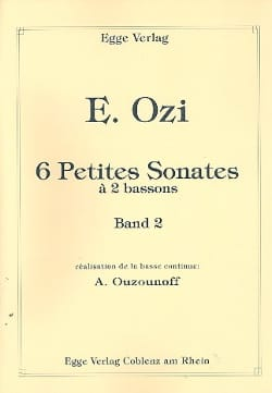 Etienne Ozi - 6 Small Sonatas with 2 Bassoons Volume 2 - Partition - di-arezzo.com