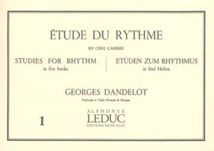 Georges Dandelot - Studio del volume del ritmo 1 - Partitura - di-arezzo.it