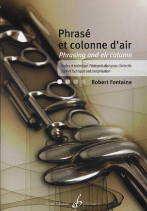 Robert Fontaine - Phrasé et Colonne D'air - Partition - di-arezzo.fr