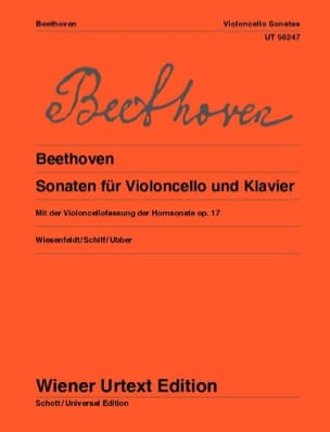 BEETHOVEN - Sonatas for cello and piano - Sheet Music - di-arezzo.co.uk
