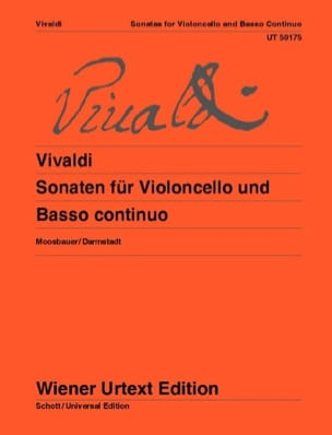 VIVALDI - Sonatas for cello and basso continuo - Partition - di-arezzo.co.uk