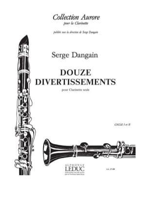 12 Divertissements - Serge Dangain - Partition - laflutedepan.com