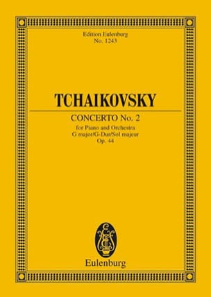 TCHAIKOVSKY - Klavier-Konzert Nr. 2 G-Dur - Partition - di-arezzo.fr