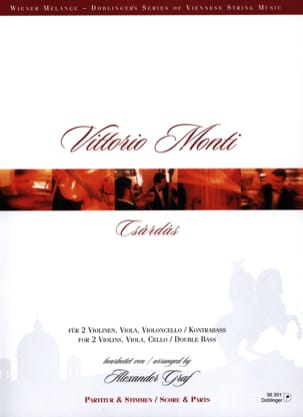 Csardas Vittorio Monti Partition Quintettes - laflutedepan