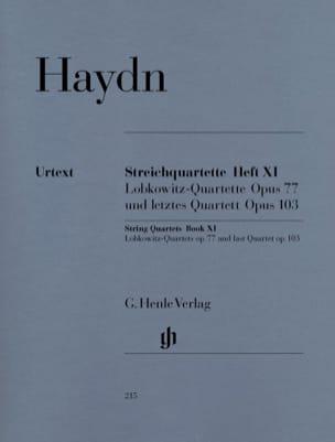 HAYDN - 弦楽四重奏ボリュームXI op。 77およびop。 103(Lobkowitz Quartuorsと最後のクール - 楽譜 - di-arezzo.jp