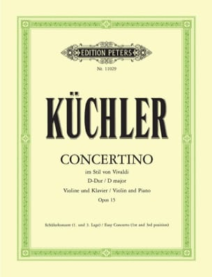 Ferdinand Küchler - Concertino Op.15 In D Maj. - Sheet Music - di-arezzo.co.uk