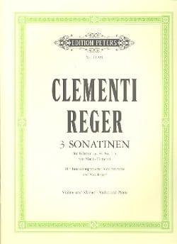 Clémenti / Reger Max - 3 Sonatines Op.36 Nr.1-3 - Partition - di-arezzo.fr