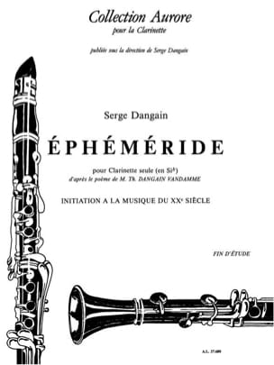 Serge Dangain - Ephemeris - Sheet Music - di-arezzo.com