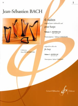 BACH - 6 Suites - Volume 1 - harp - Partition - di-arezzo.co.uk