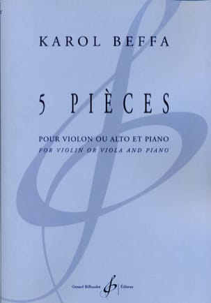 Karol Beffa - 5 pieces - Sheet Music - di-arezzo.co.uk