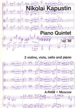 Nikolai Kasputin - Piano Quintet Op.89 - Partition - di-arezzo.fr