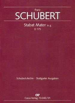 Stabat Mater in g-moll D175 - Set SCHUBERT Partition laflutedepan