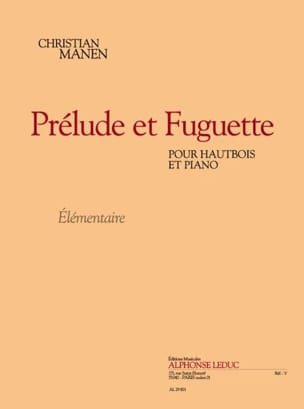 Prélude et Fuguette Christian Manen Partition Hautbois - laflutedepan