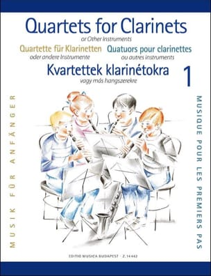 Clarinet Quartets For Beginners Partition Clarinette - laflutedepan