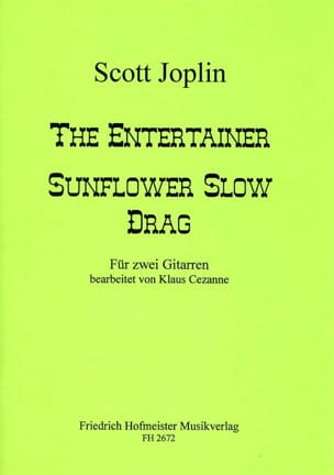 Scott Joplin - The Entertainer - Sunflower Slow Drag - Partition - di-arezzo.fr