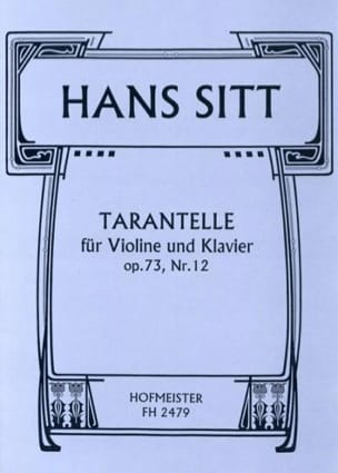 Tarantelle Op.73 N°12 - Hans Sitt - Partition - laflutedepan.com