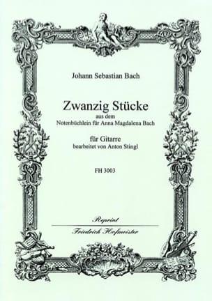 BACH - 20 Pièces Extr. Petit Livre d'A.M. Bach - Partition - di-arezzo.fr