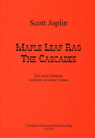 Mapple Leaf Rag et The Cascades JOSPLIN Partition laflutedepan