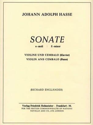 Sonate En Mi Min. - Johann Adolf Hasse - Partition - laflutedepan.com