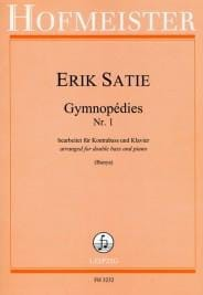 Gymnopédies N°1 SATIE Partition Contrebasse - laflutedepan