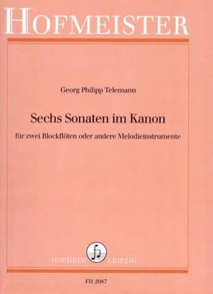 Georg Philipp Telemann - 6 Sonates En Canon - Partition - di-arezzo.fr
