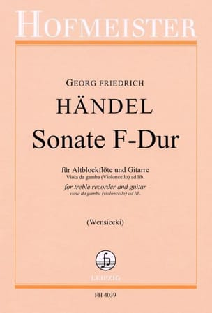 HAENDEL - Sonata in F Maj. - Sheet Music - di-arezzo.co.uk