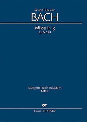 BACH - Messe En Sol Mineur - BWV 235 - Partition - di-arezzo.fr