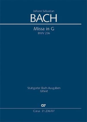 Johann Sebastian Bach - Messe En Sol Majeur - BWV 236 - Partition - di-arezzo.fr