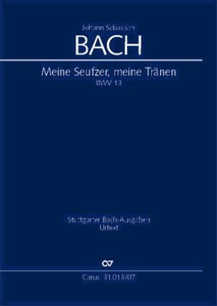 BACH - Cantate Meine Seufzer, Meine Tränen BWV 13 - Partition - di-arezzo.fr
