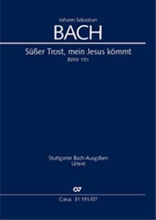 Cantate Süsser Trost, Meine Jesus Kömmt BWV 151 BACH laflutedepan