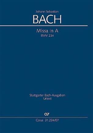 BACH - Messe En la Majeur - BWV 234 - Partition - di-arezzo.fr