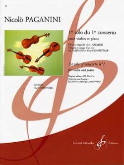 Niccolò Paganini - 1er Solo Du 1er Concerto - Partition - di-arezzo.fr