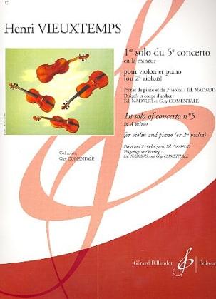 Henri Vieuxtemps - 1er Solo Du 5ème Concerto En la Min. - Partition - di-arezzo.fr