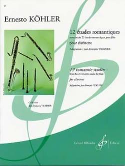 12 Etudes Romantiques pour clarinette Ernesto Köhler laflutedepan