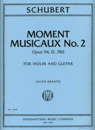 Moment Musicaux N°2 Op.94 - D.780 SCHUBERT Partition 0 - laflutedepan