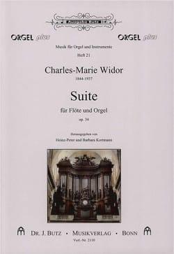 Charles-Marie Widor - Suite Op. 34 pour Flûte et Orgue - Partition - di-arezzo.fr