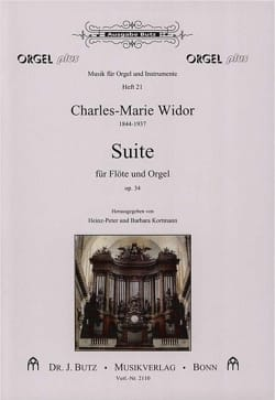 Charles-Marie Widor - フルートとオルガンのためのスイート作品34 - 楽譜 - di-arezzo.jp
