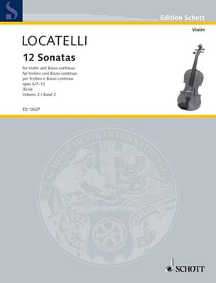 12 Sonates Vol.2 Op.6 N°7-12 LOCATELLI Partition Violon - laflutedepan