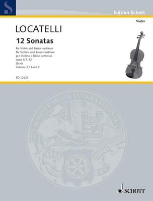 Pietro Antonio Locatelli - 12 Sonates Vol.2 Op.6 N°7-12 - Partition - di-arezzo.fr