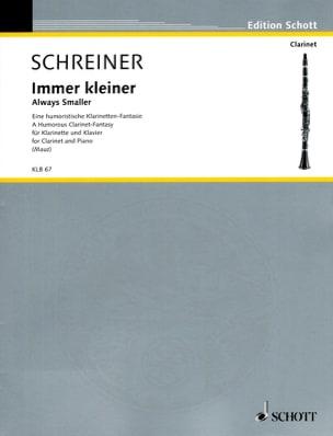 Adolf Schreiner - Immer Kleiner - Partition - di-arezzo.fr