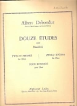 Albert Debondue - 12 Studies - Sheet Music - di-arezzo.co.uk